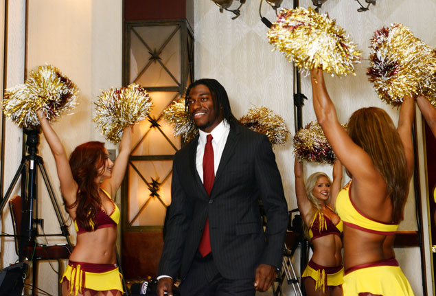 At the Redskins Welcome Lunch: Sam Huff Gets Mad, RG3 Gets Mobbed