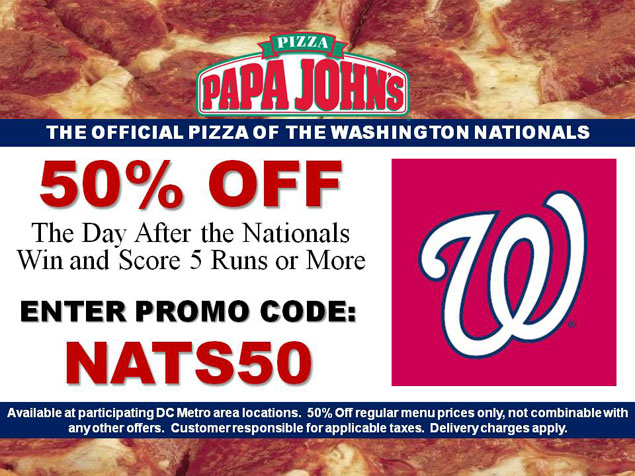 The Nationals' and Redskins' Success: Good for Washington, Bad for Papa John's?
