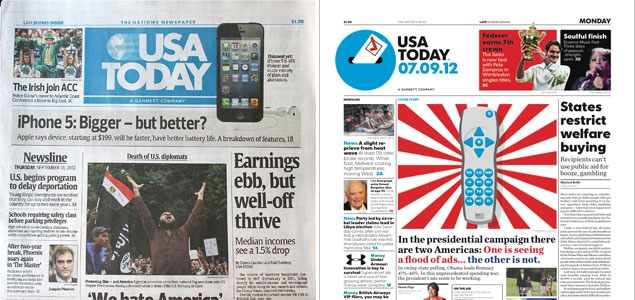 """""""USA Today"""" Gives Itself a Makeover"""