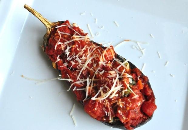 Healthy Recipe: Vegetarian Stuffed Eggplant