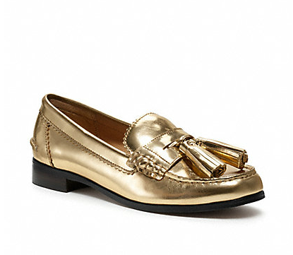 63b5383539a Gold loafers. Maybe don t wear  em with the gold sweater
