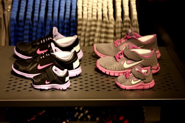 The third floor of Nike Georgetown features a section dedicated to kids'  shoes and apparel. Photograph by Melissa Romero