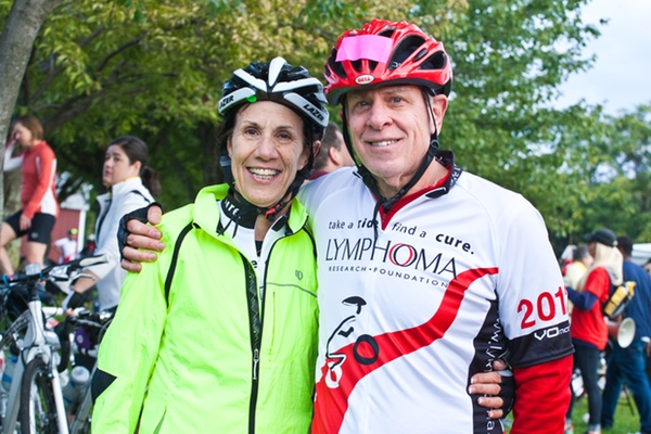 Lymphoma Research Ride cofounder Dr. Bruce Cheson taking to the hills of Montgomery County, Maryland, for the sixth annual ride.