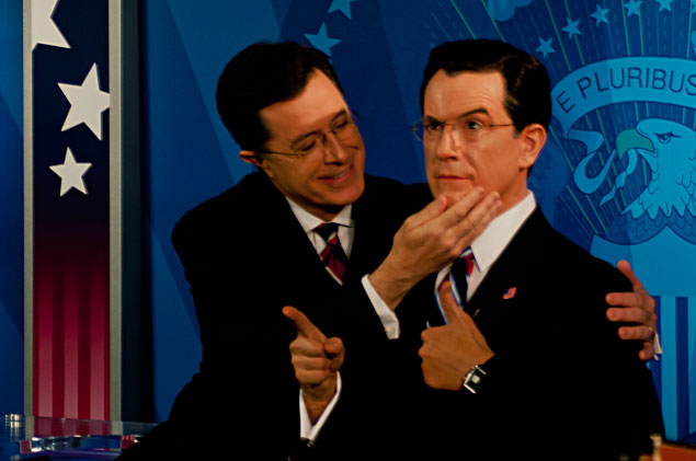 Stephen Colbert Unveils Waxwork of Himself at Madame Tussauds