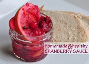 Healthy Thanksgiving Recipe: Homemade Cranberry Sauce