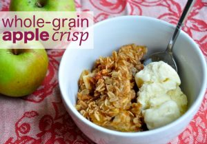 Healthy Thanksgiving Dessert: Whole-Grain Apple Crisp With Nuts, Dried Fruit, and Ginger
