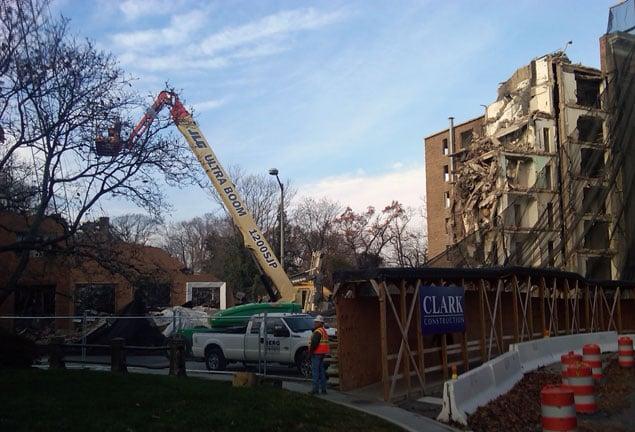External Demolition Begins on Former Chinese Embassy Building