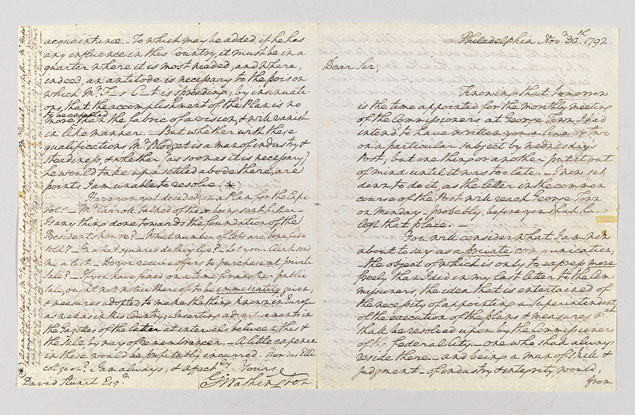 Rare Letter Written by George Washington to Be Auctioned at Christie's on Friday