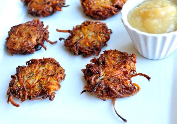 Healthy Hanukkah Recipe: Vegan Sweet Potato Latkes