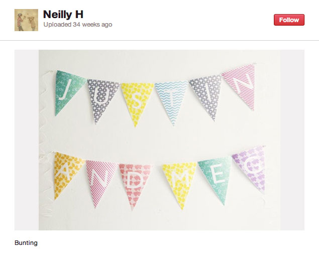 Pinteresting: A Bounty of Bunting