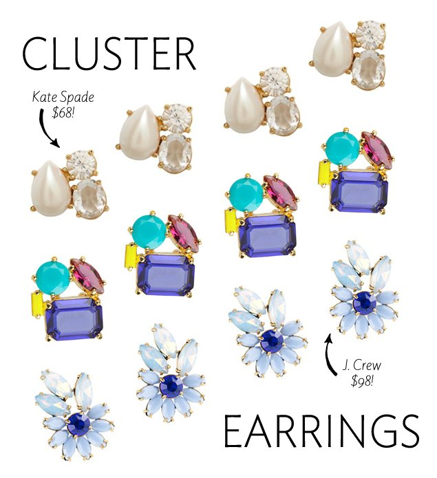Cluster Earrings: Our Fave Holiday Jewelry Trend