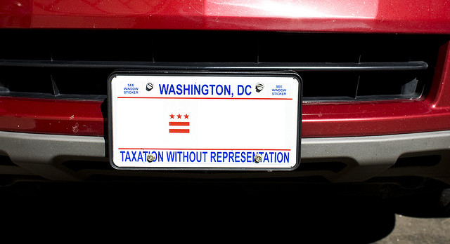 "President Obama Will At Last Use DC's ""Taxation Without Representation"" Plates"
