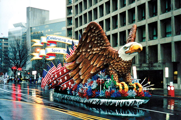Inaugural Parade Floats Fade Into History