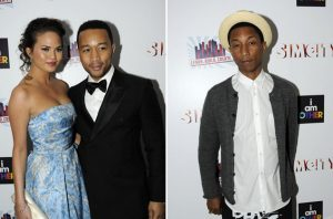 Pharrell and John Legend Appear at the Electronic Arts Inauguration After-Party