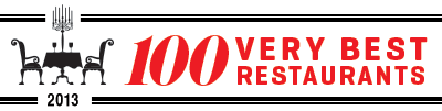 100 Very Best Restaurants 2013
