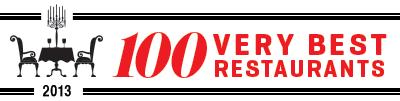100 Very Best Restaurants 2013