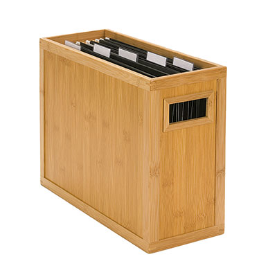 Bamboo Desktop File, $29.99 at the Container Store
