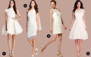 Wedding Trend Alert: The Little White Dress