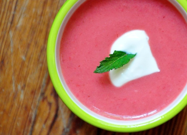 Strawberry-Rhubarb Soup