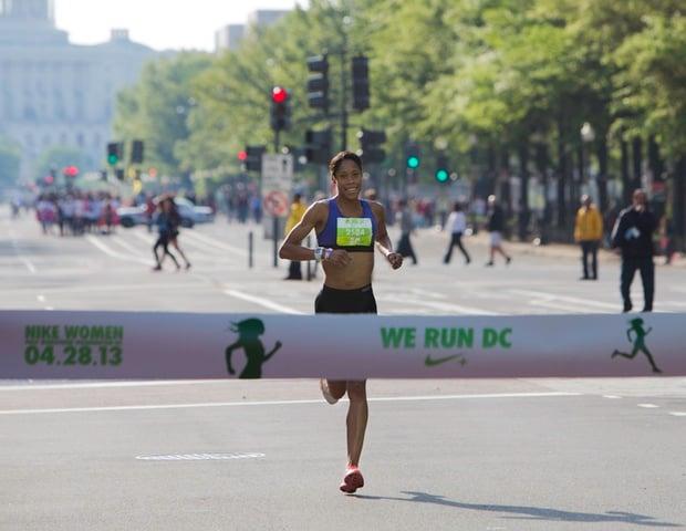 Q&A With Nike Women's Half Marathon Winner and Local Runner Samia Akbar