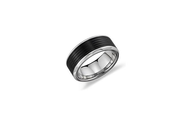 Triton Wedding Ring 44 Good Ridged wedding ring in