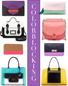 Look We Love: Color-block Bags