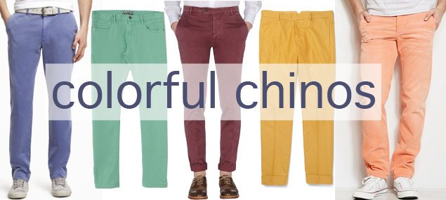 Style Tip for Him: Colored Pants