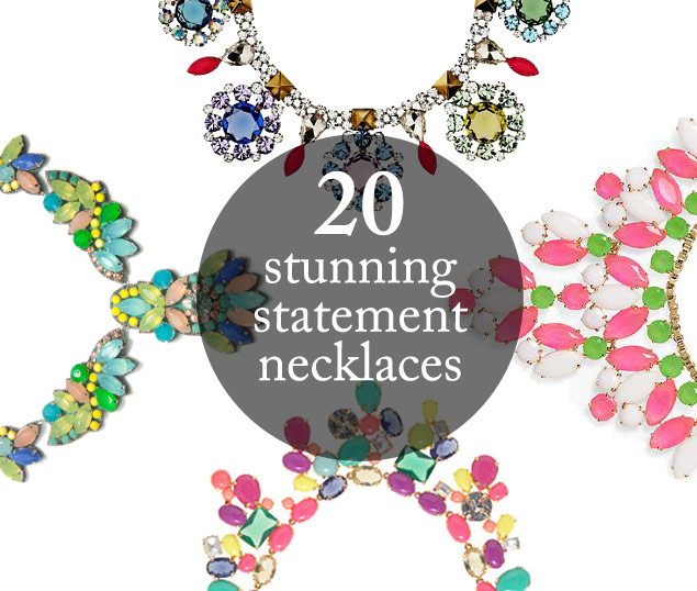 Currently Obsessed: 20 Colorful Statement Necklaces