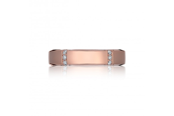 Triton Wedding Ring 54 Elegant Sculpted crescent rose gold