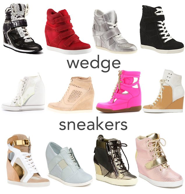 3fe2b1e5636 How They Wear It  Wedge Sneakers