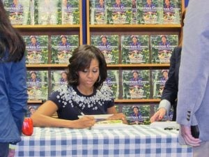 Michelle Obama's Book-Signing at Politics & Prose