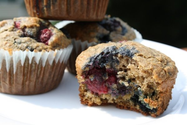 Oatmeal Mixed Berry Muffins