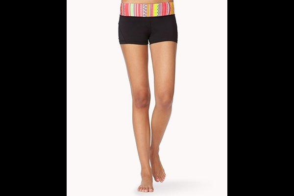 Tribal Print Skinny Workout Shorts