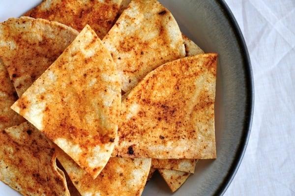 Salt-Free Baked Chipotle Tortilla Chips