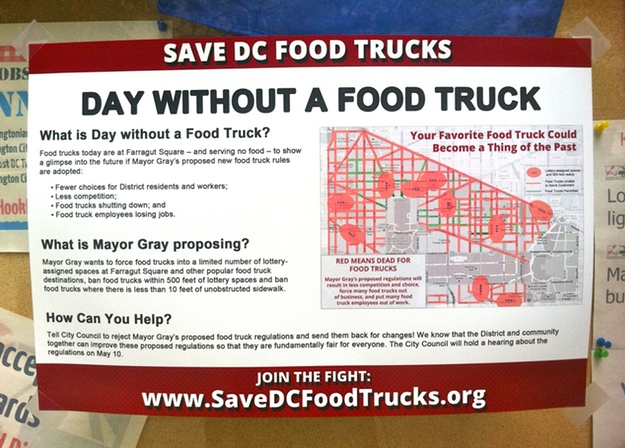 Food Trucks Stage a Protest in Farragut Square