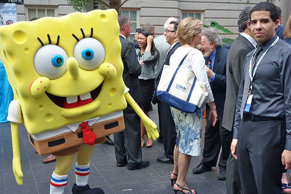 SpongeBob SquarePants, the Property Brothers, Ricky Schroder, and Susan Lucci Attend a Cable TV Party (Photos)
