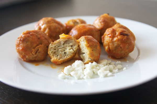 Feta-Stuffed Buffalo Chicken Bites