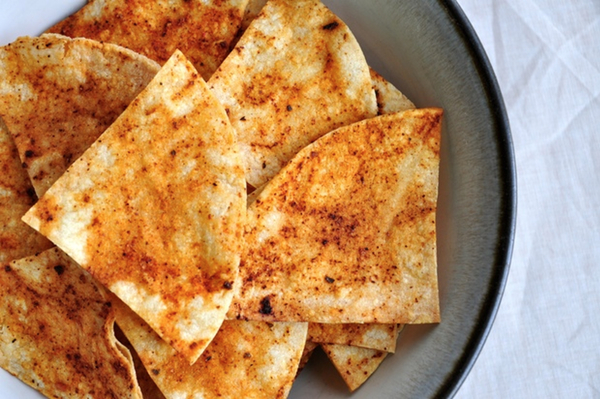 Salt-Free Baked Tortilla Chips