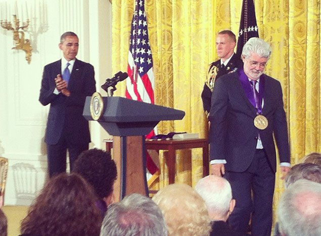 George Lucas, Joan Didion, Ellsworth Kelly, and More Honored at the White House