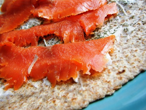 Smoked Salmon and Dill Wrap