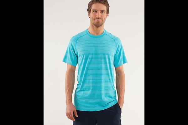 Metal Vent Tech Short Sleeve Stripe Shirt