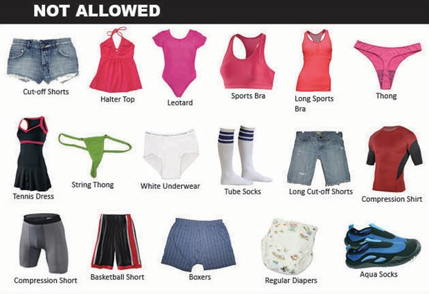 A List of Clothes You Can't Wear at DC Public Pools