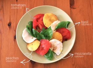 Lunch Makeover: Peach Caprese Salad