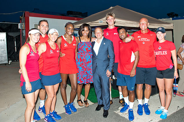 Michelle Obama Heads to Kastles Stadium for the Team's Season Opener (Photos)
