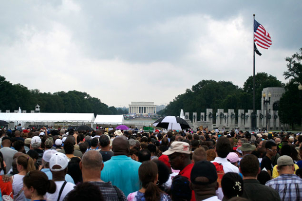 Rain and Slow Security Don't Keep People From Marking 50th Anniversary of March on Washington
