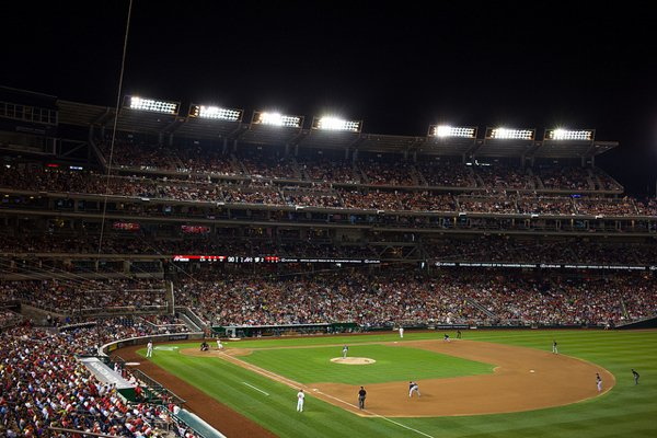 """Nationals Park. Photography by Flickr user <a href=""""http://www.flickr.com/photos/bereninga/9515095340/"""">Vincent Lim Show Chen</a>"""