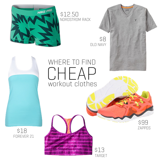 cheap workout clothes