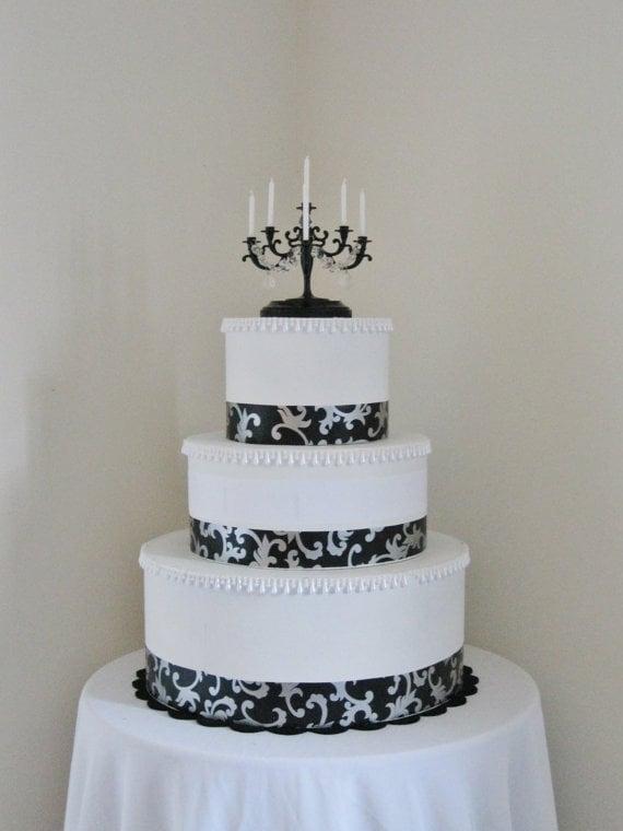 Shabulous Chandeliers Amazing Black Candelabra Wedding Cake Topper 39 At Etsy