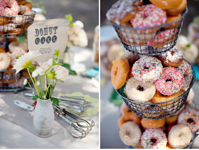 Pancakes: Green Wedding Shoes via Pinterest. Candied apples: Sweet Designs via Pinterest. S'mores: Design Waffle via Pinterest. Doughnuts: Green Wedding Sh