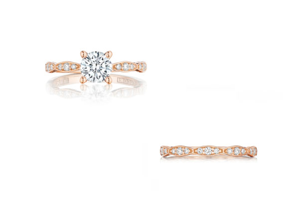 Rose Gold And Diamond Wedding Band 74 Lovely Pretty in Pink diamond